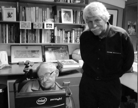 Stephen Hawking and Tom Paddock